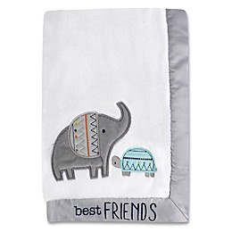Wendy Bellissimo™ Ellie Blanket in White/Grey