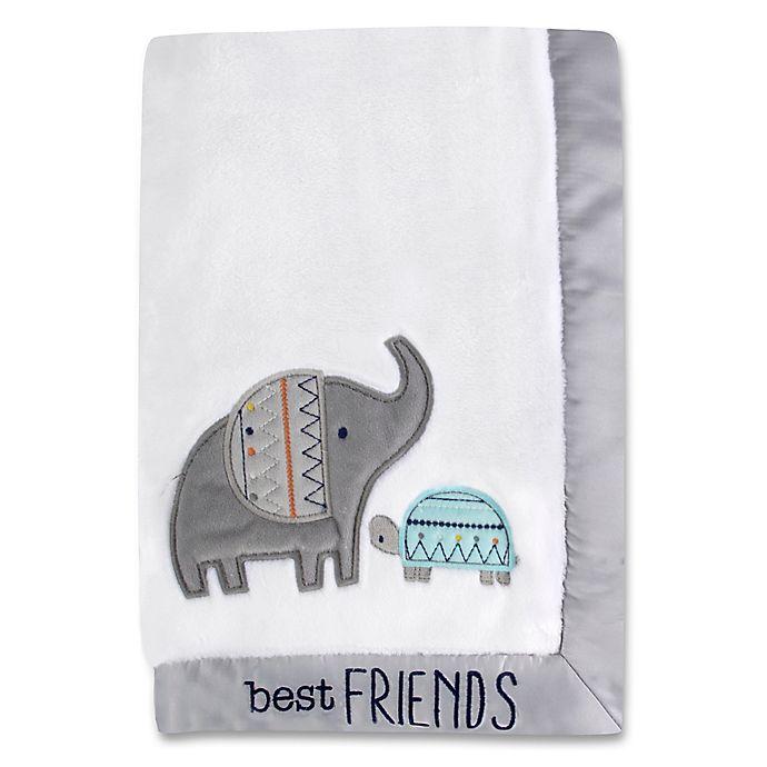 Alternate image 1 for Wendy Bellissimo™ Ellie Blanket in White/Grey