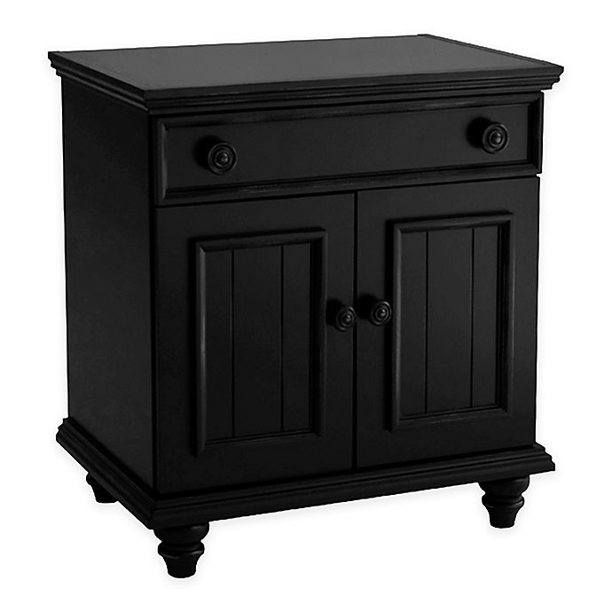 Alternate image 1 for John Boyd Designs Notting Hill 1-Drawer Night Stand in Ebony