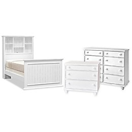 John Boyd Designs Notting Hill Bookcase Bed Furniture Collection in Bright White