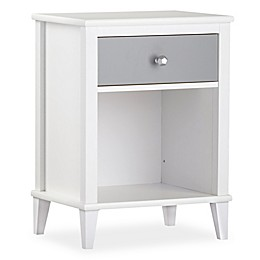 Little Seeds Monarch Hill Poppy 1-Drawer Nightstand in Grey