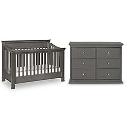 Million Dollar Baby Foothill 4-Piece Nursery Set in Manor Grey