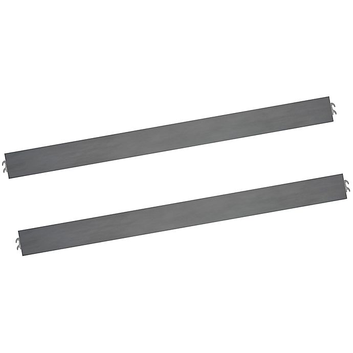 Alternate image 1 for Evolur Universal Full Size Bed Rail in Storm Grey