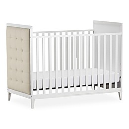 Little Seeds Monarch Hill Avery Upholstered Crib in White