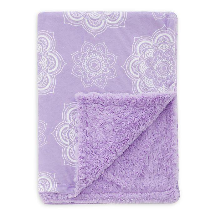 Alternate image 1 for Baby Laundry® Minky Mandala/Tile Blanket in Orchid