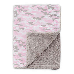 Baby Laundry® Minky Camo/Tile Blanket in Pink
