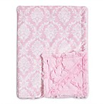 Baby Laundry® Minky Damask/Tile Blanket in Pearl Pink