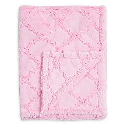 Baby Laundry® Plush Baby Blanket in Pearl Pink