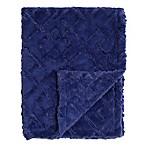 Baby Laundry® Plush Maze Blanket in Steel Blue