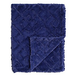 Baby Laundry® Plush Maze Blanket in Steel Blue
