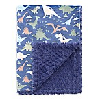 Baby Laundry® Minky Dino/Tile Blanket in Blue