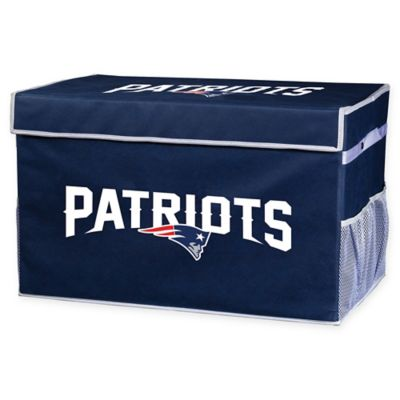 208e6d7a NFL New England Patriots Collapsible Storage Foot Locker