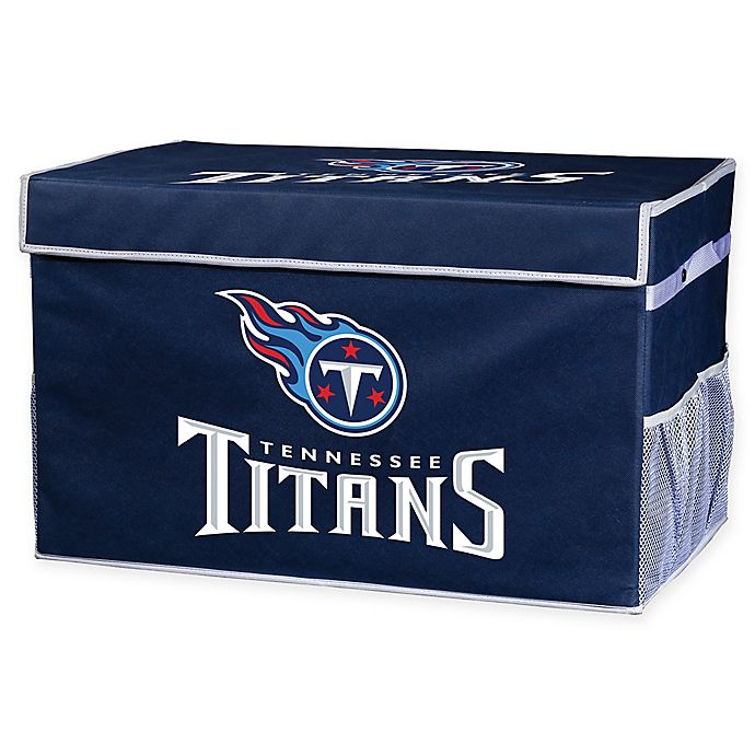 Alternate image 1 for NFL Tennessee Titans Large Collapsible Storage Foot Locker