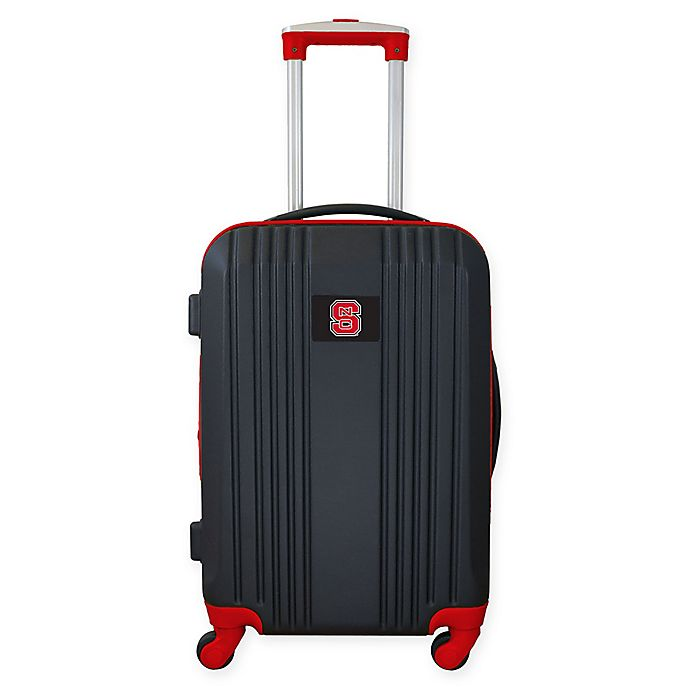 Alternate image 1 for North Carolina State University 21-Inch Carry On Expandable Spinner Luggage in Black