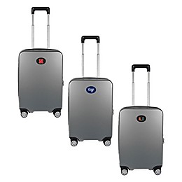 Collegiate 22-Inch Hardcase Carry-On Spinner Suitcase Collection in Silver