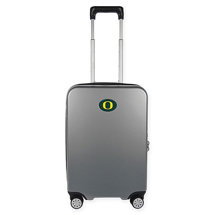 Alternate image 1 for University of Oregon 22-Inch Hardcase Carry-On Spinner Suitcase Collection in Silver