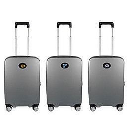 NHL 22-Inch Hardcase Carry-On Spinner Suitcase Collection in Grey