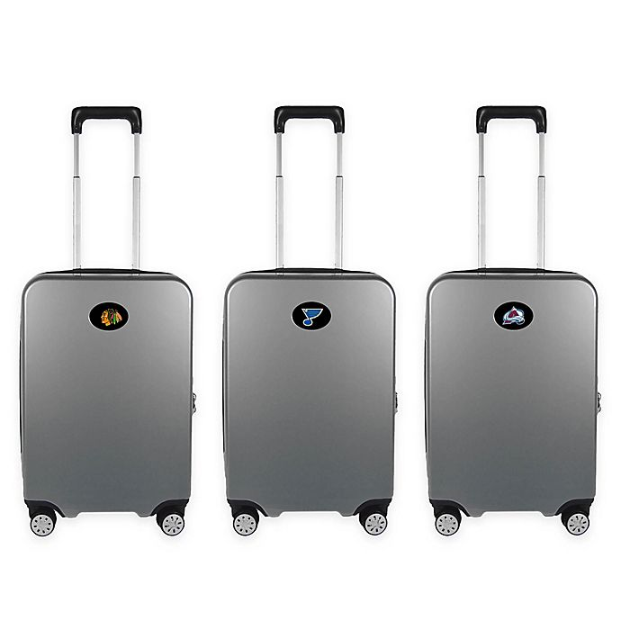 Alternate image 1 for NHL 22-Inch Hardcase Carry-On Spinner Suitcase Collection in Grey
