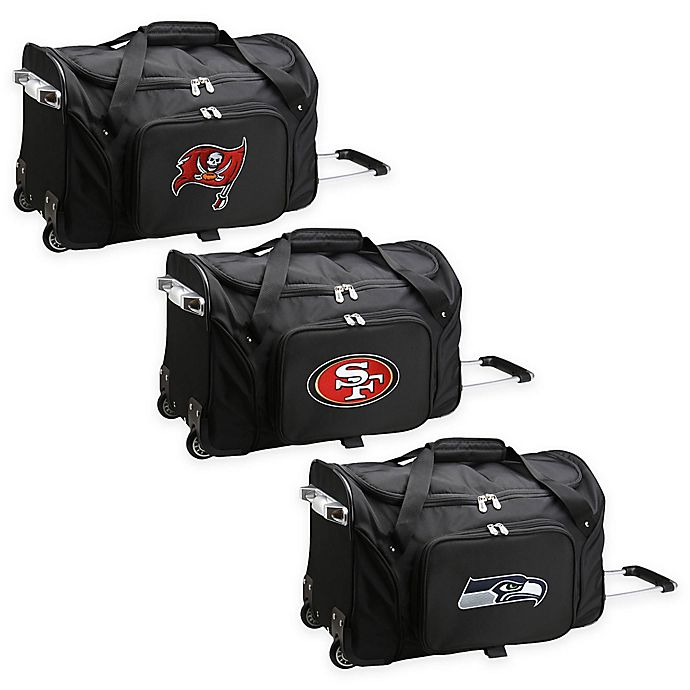 Alternate image 1 for NFL 22-Inch Wheeled Carry-On Duffle with Embroidered Logo
