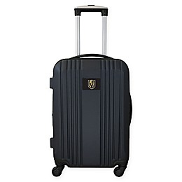 NHL Las Vegas Golden Knights Carry-On Expandable Spinner Luggage in Black