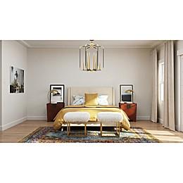 Golden Hues Contemporary Bedroom