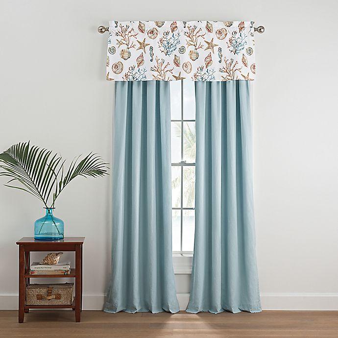 Alternate image 1 for Coastal Life Madaket 84-Inch Window Curtain Panel Pair in Aqua