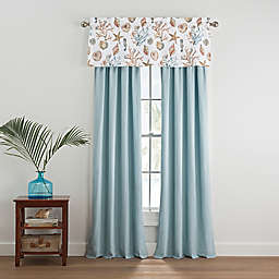 Coastal Life Madaket 84-Inch Window Curtain Panel Pair in Aqua