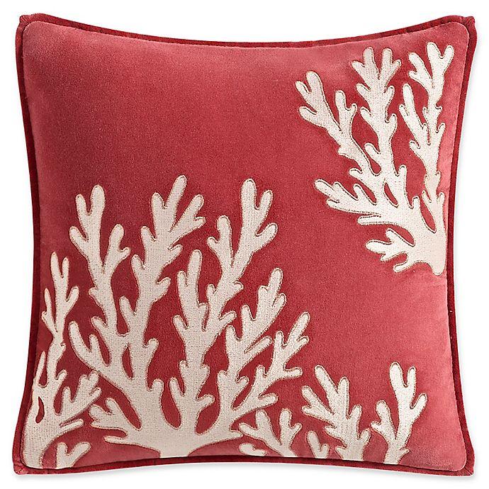 Alternate image 1 for Coastal Life Madaket Square Throw Pillow in Coral