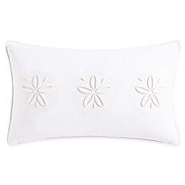 Coastal Life Madaket Oblong Throw Pillow in White
