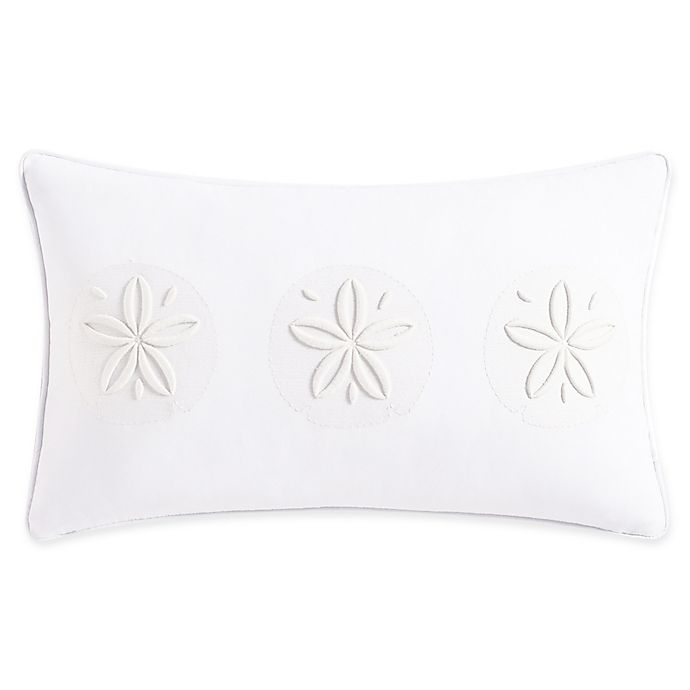 Alternate image 1 for Coastal Life Madaket Oblong Throw Pillow in White