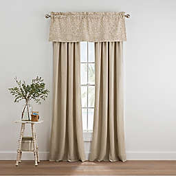 Coastal Life Melbourne 84-Inch Rod Pocket Window Curtain Panel Pair