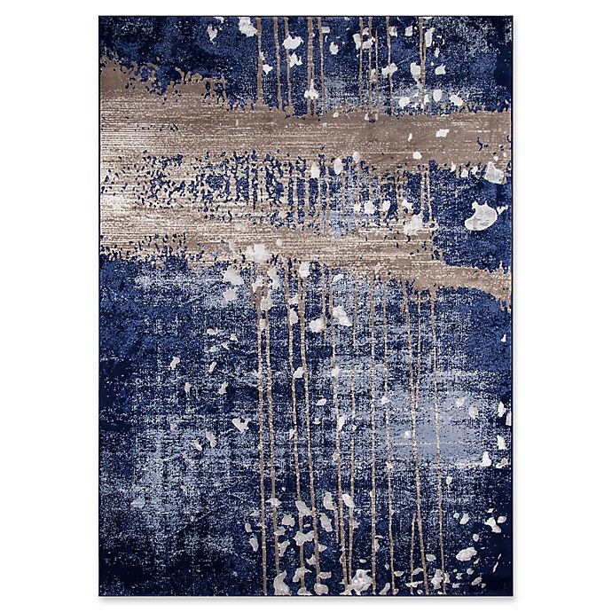 Alternate image 1 for Momeni Monterey Abstract 2' x 3' Accent Rug in Blue