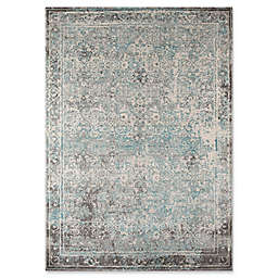 Momeni Luxe Area Rug in Turquoise