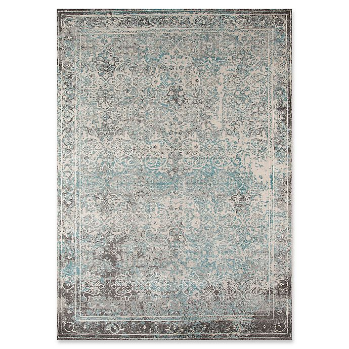 Alternate image 1 for Momeni Luxe 7'10 x 9'10 Rug in Turquoise