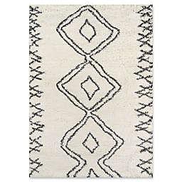 Momeni Maya Diamond 2' x 3' Shag Accent Rug in Ivory