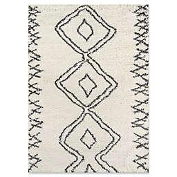 "Momeni Maya Diamond 7'10"" x 9'10"" Area Rug in Ivory"