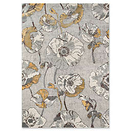 Momeni Luxe Allover Floral Rug in Grey