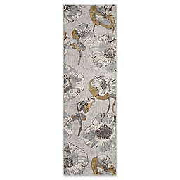 Momeni Luxe Allover Floral 2'3 x 7'6 Runner in Grey