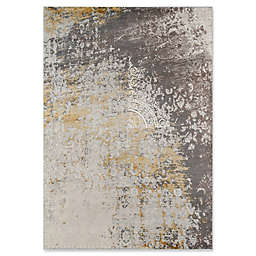 Momeni Luxe Abstract Floral 2' x 3' Accent Rug in Gold