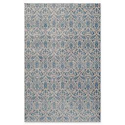 Momeni Kerman Damask 7'10 x 9'10 Area Rug in Blue