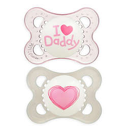 MAM Love & Affection Age 0-6 Months I Love Daddy Pacifier (2-Pack)