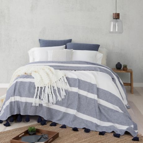 Buy Ugg 174 Blake King Bedspread In Navy From Bed Bath Amp Beyond