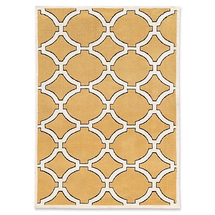 Alternate image 1 for Linon Home Geometric Lattice 8' x 10' Area Rug in Gold