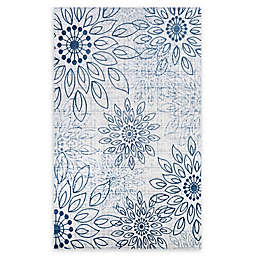 Couristan® Summer Bliss 2' x 3' Accent Rug in Blue/Ivory