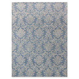 Amer Ascent Damask Rug in Modern Blue