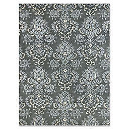 Amer Ascent Modern Damask Hand Tufted Accent Rug in Carbon Grey