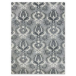 Amer Ascent Mixed Medallion Hand Tufted Accent Rug in Silver