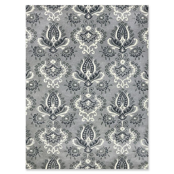 Alternate image 1 for Amer Ascent Mixed Medallion 8' x 11' Hand Tufted Area Rug in Silver