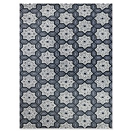 Amer Ascent Floral Medallion Hand Tufted Rug in Modern Grey