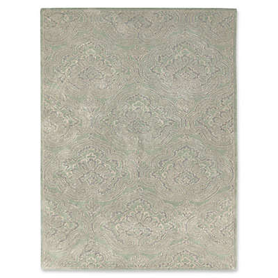 Amer Ascent Scrolled Damask Hand Tufted Rug in Sage